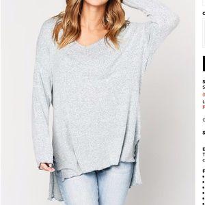 Z Supply Marled Sweater Knit V-neck Tunic